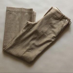 Ann Taylor Cream/Tan Wool Blend Dress Pants